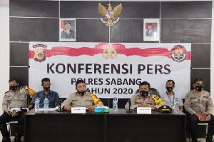 Polres Sabang Gelar Konferensi Pers Akhir Tahun 2020