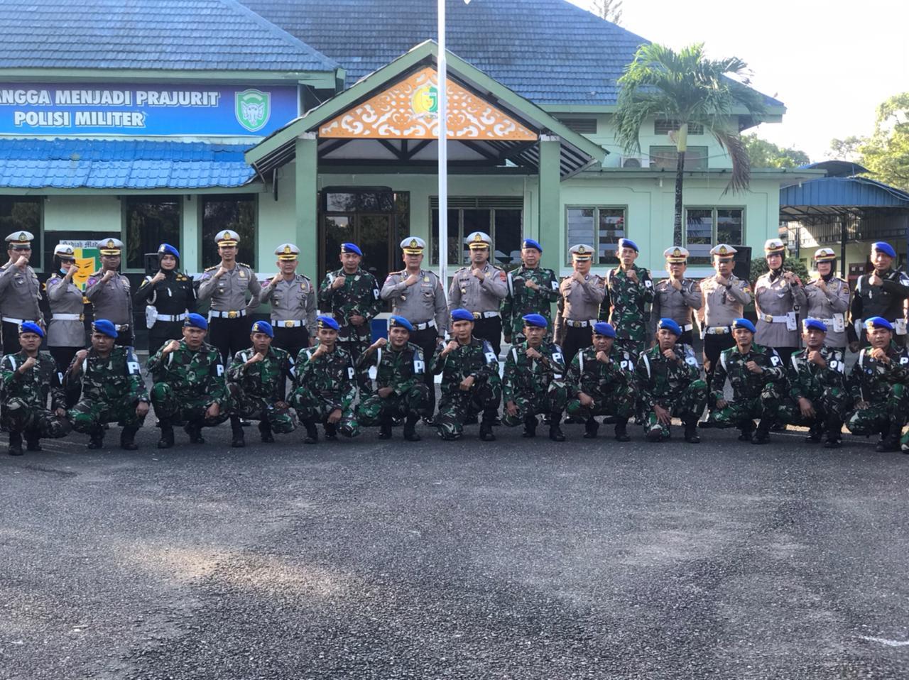 Apel Gabungan Ditlantas Polda Aceh dan Pomdam Iskandar Muda