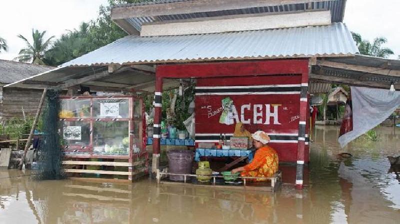 Enam Kecamatan di Pidie Terendam Banjir Akibat Hujan Deras