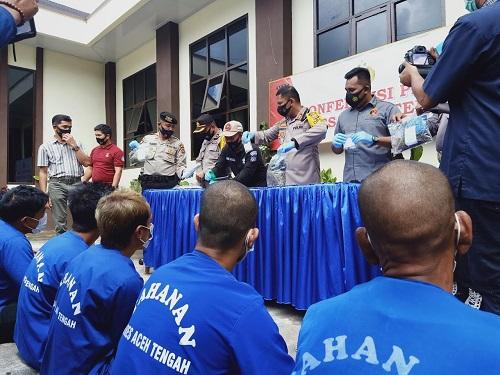 8 Pengedar dan Pemakai Narkoba Ditangkap Satnarkoba Aceh Tengah
