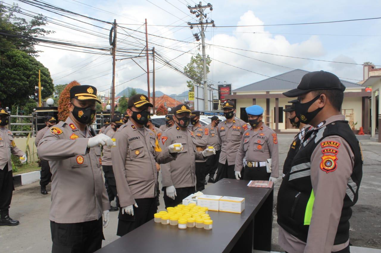 Personil Polres Aceh Tengah Harus Bebas dari Narkoba