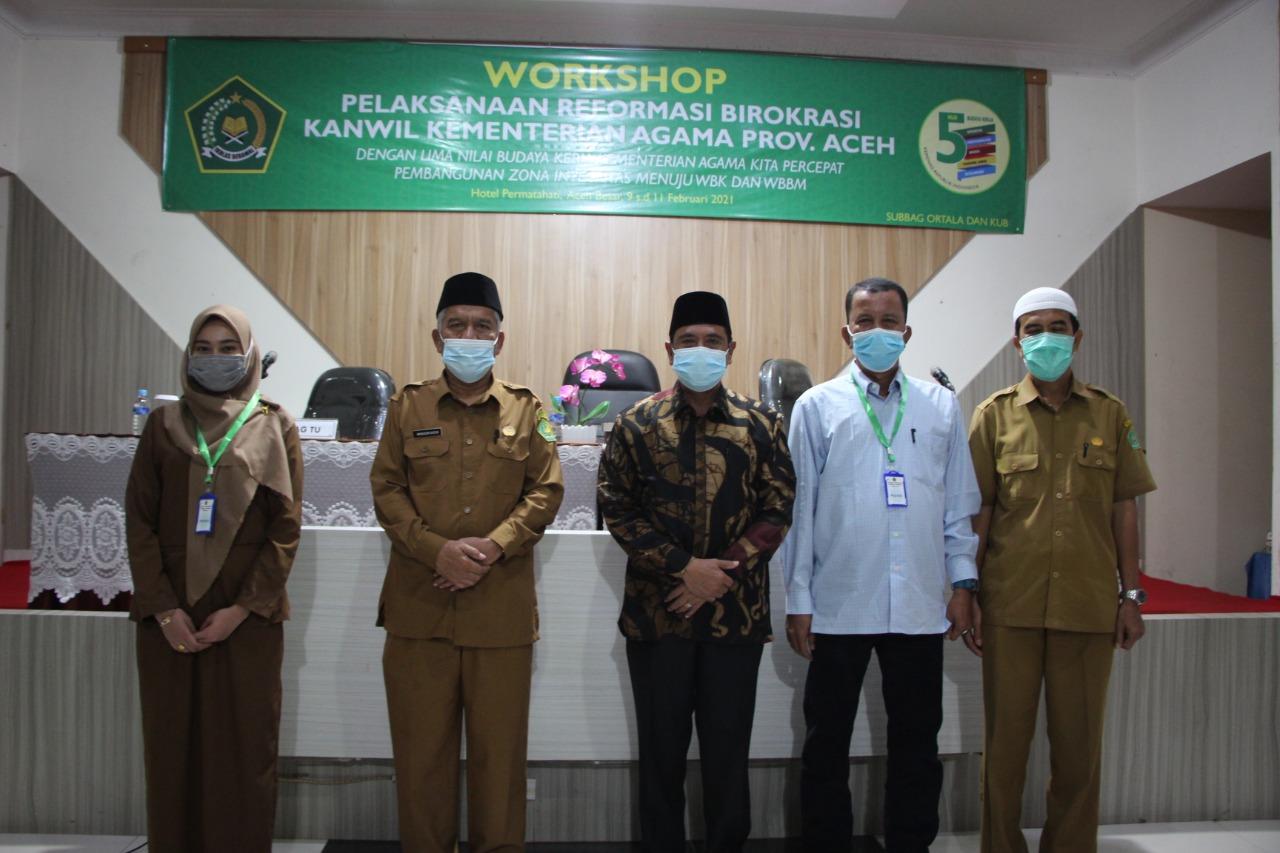 Kemenag Aceh: Butuh Komitmen dan Tekad Kuat  Guna Wujudkan Pemerintahan yang bersih