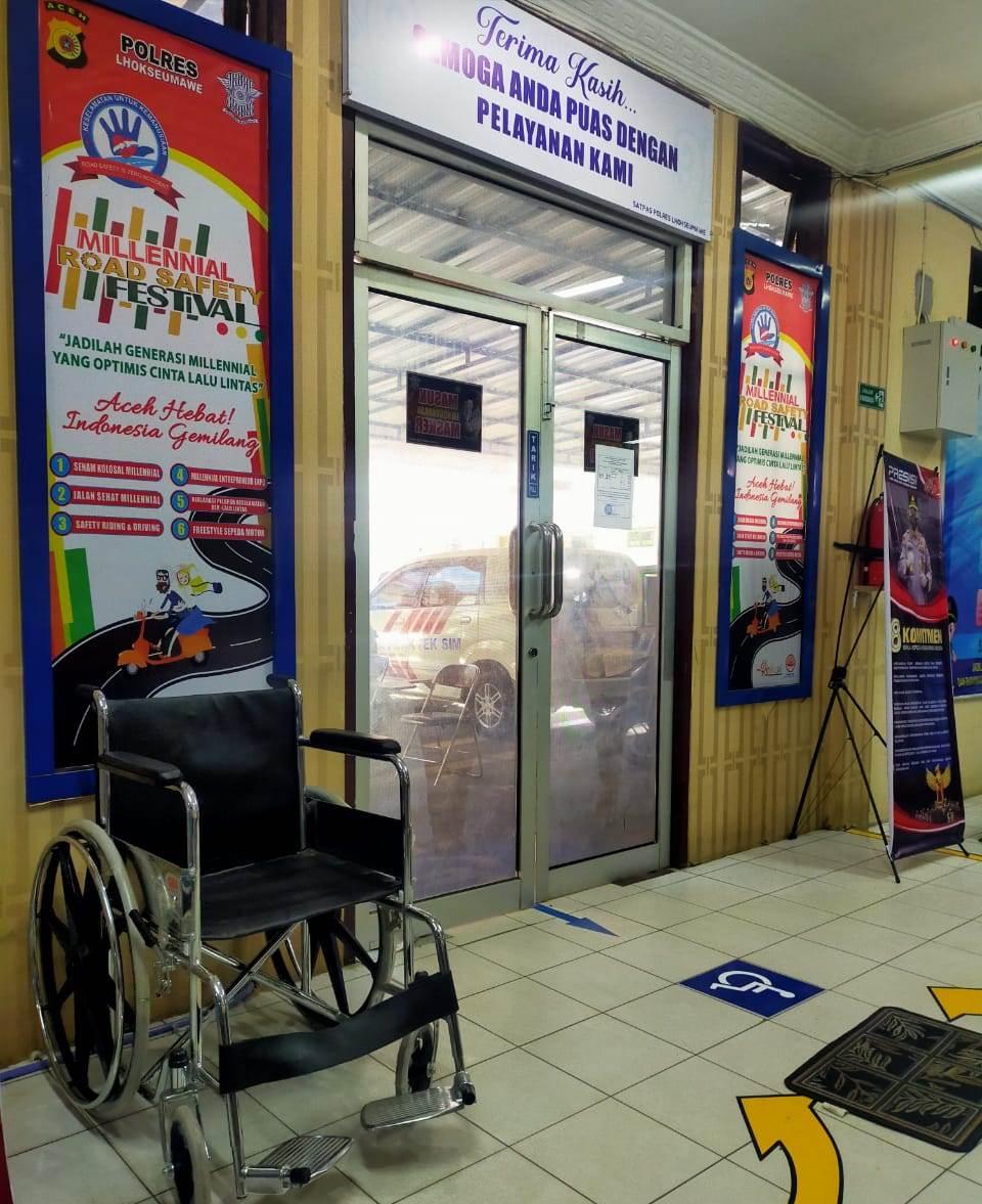 Ditlantas Polda Aceh Siapkan Pelayanan Khusus Untuk Penyandang Disabilitas