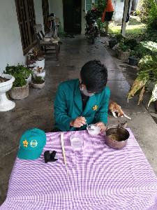 Mahasiswa KKN USK di Langsa Manfaatkan Limbah Rumah Tangga Jadi Sabun Batang