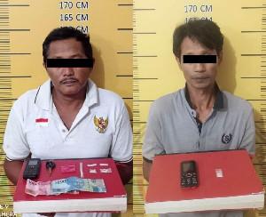 Gerebek Rumah di Alue Dua, Polres Langsa Amankan 2 Tersangka Kasus Narkotika
