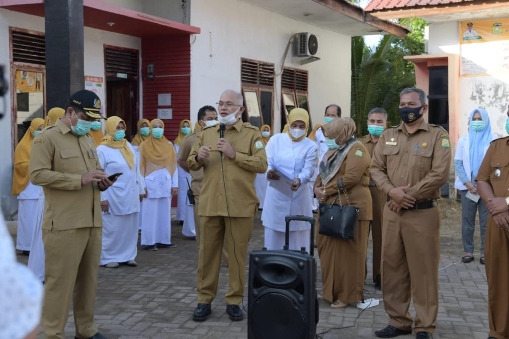 Sekda Aceh Semangati Nakes Aceh Besar