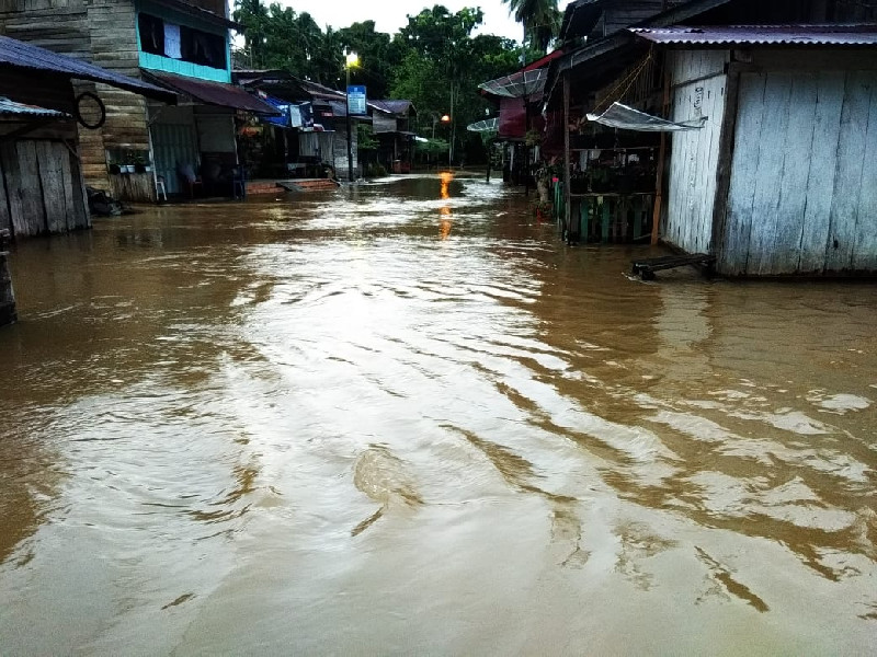 Banjir Rendam 12 Desa di Aceh Jaya
