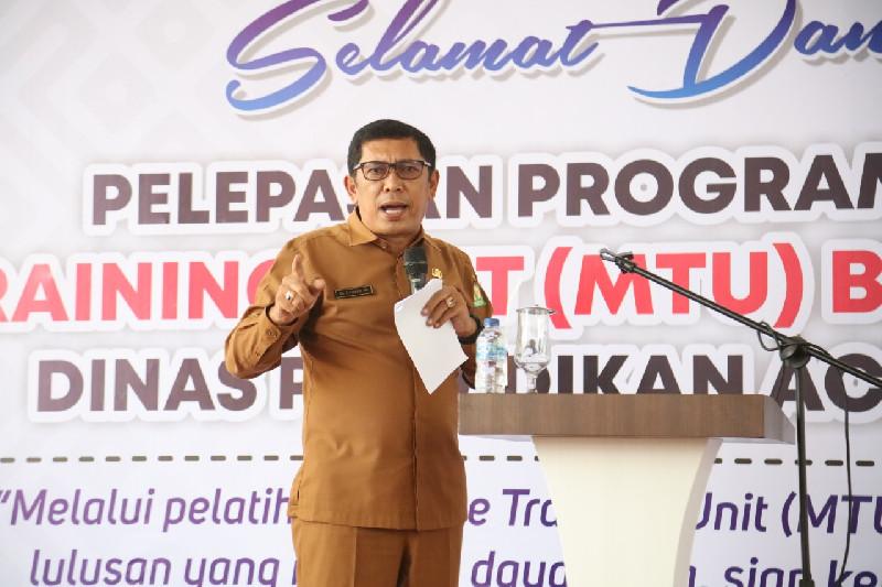 Kadis Pendidikan Aceh Lepas 3 MTU ke 30 SMK
