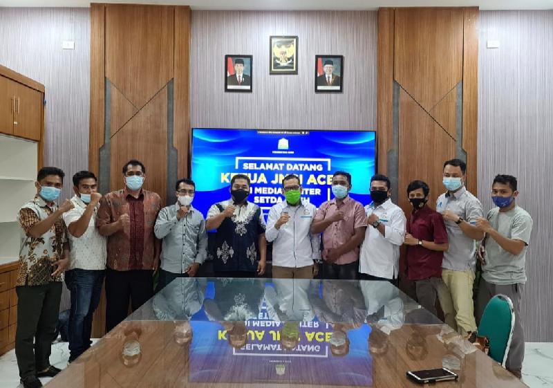 JMSI Silaturahmi Dengan Karo Humas dan Protokol Setda Aceh