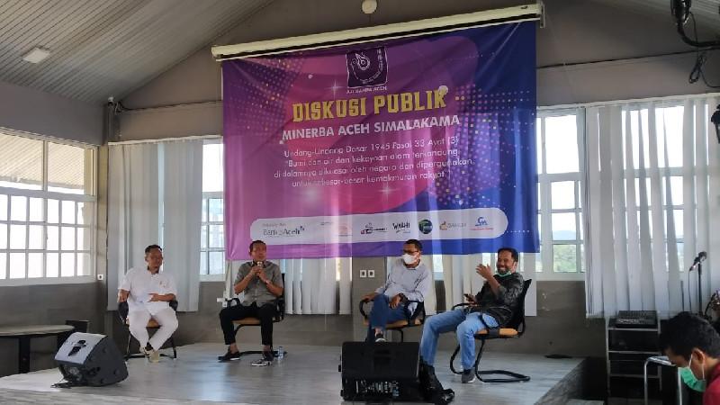AJI Banda Aceh Gelar Diskusi Publik Minerba Aceh Simalakama