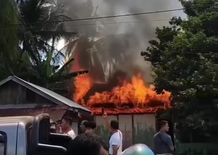 Kebakaran di Nagan Raya, Nenek Berhasil Selamatkan 2 Cucunya
