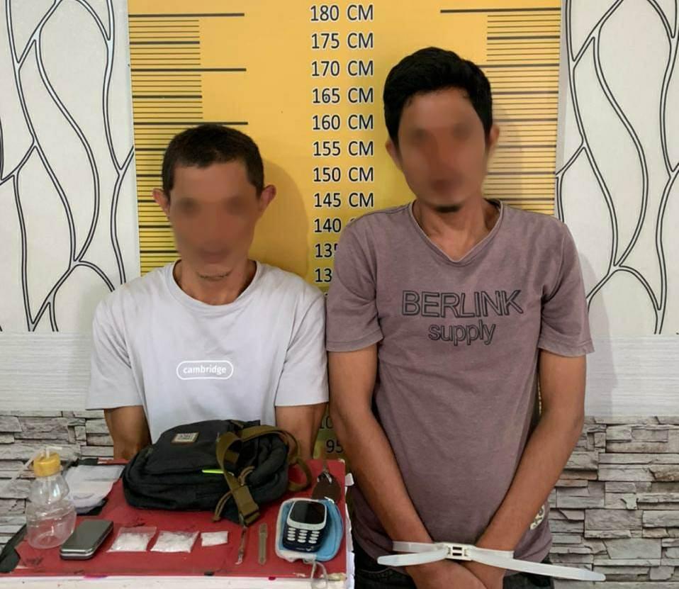 Gerebek Rumah Gampong Timbang Langsa, Polisi Amankan Dua Tersangka Narkoba