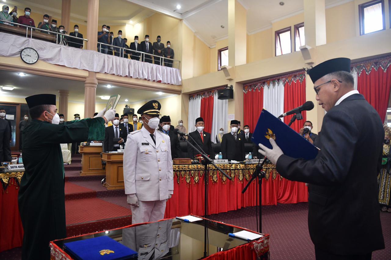 Gubernur Nova Lantik Dailami Sebagai Wakil Bupati Bener Meriah Sisa Jabatan 2017-2022