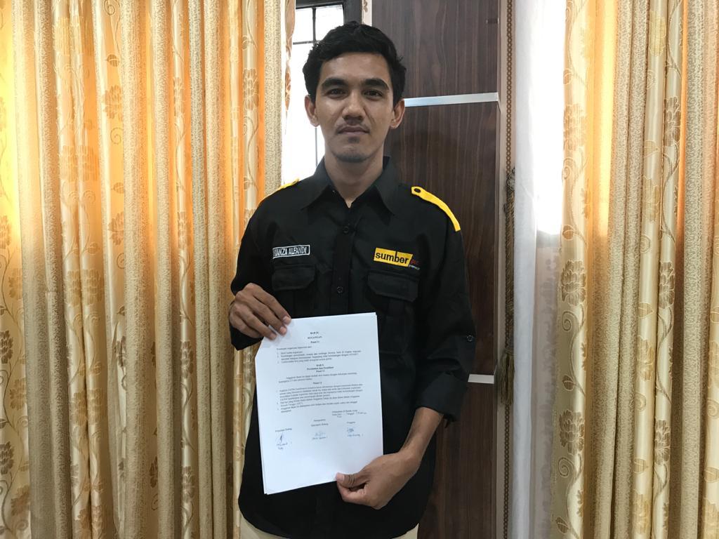 Rianza Alfandi, Pimpinan Umum Terpilih Sumberpost UIN Ar-Raniry Periode 2021-2022