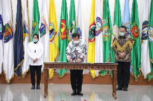 Kemendagri Jalin Nota Kesepahaman dengan Kemensos dan Forum Rektor Indonesia