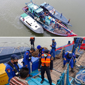 Bea Cukai dan Polairud Polres Langsa Gelar Operasi Gabungan