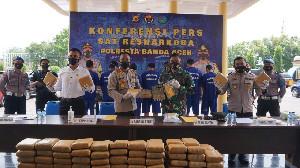 Sinergitas TNI-Polri, Gagalkan Pengiriman 90 Kg Ganja Kering di Bandara SIM Aceh Besar