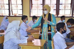 Satgas Covid-19 Aceh Sosialisasi Prokes Covid-19 Pada Pelajar SMA 1 Pulo Aceh