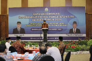 Gubernur Nova Minta Disdukcapil Kerja Maksimal Rekam Data Kependudukan di Aceh