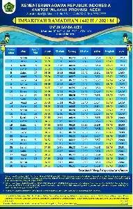 Jelang Ramadhan 1442 H, Kemenag Aceh Terbitkan Imsakiyah