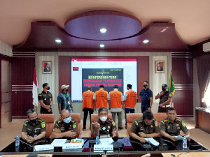 Dugaan Korupsi Proyek Jalan Muara Situlen - Gelombang, Kejati Aceh Tahan 4 Tersangka