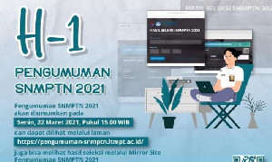 Senin 22 Maret Diumumkan Hasil SNMPTN, Silakan Cek Melalui Link Ini
