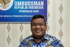 Kepala Ombudsman RI Aceh Heran Bidang Kepegawaian Paling Dominan Terlapor