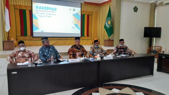 Dibuka Menag, Kemenag Aceh Ikut Rakernas 2021