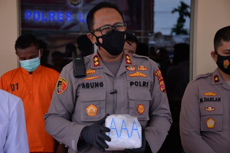 Polisi Langsa Amankan Satu Kilogram Sabu