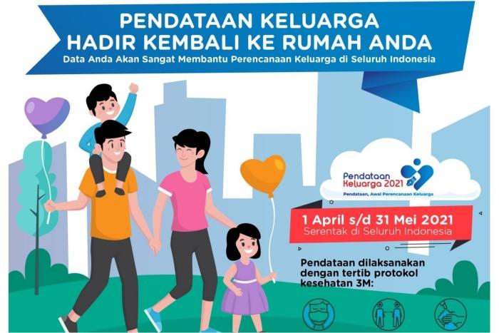 Mulai April , Pendataan Keluarga Tahun 2021 dimulai