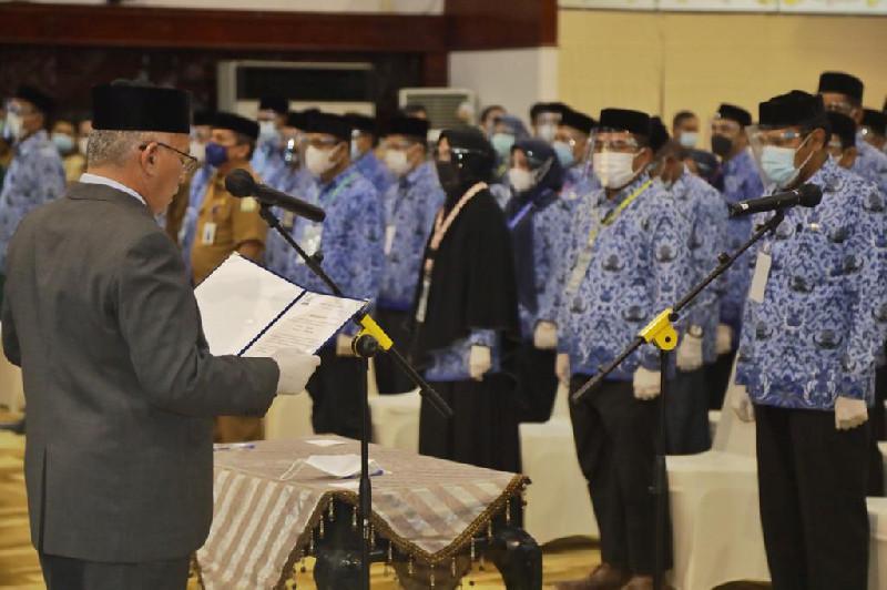Sekda Aceh Lantik 152 Pejabat Eselon III dan IV Pemerintah Aceh