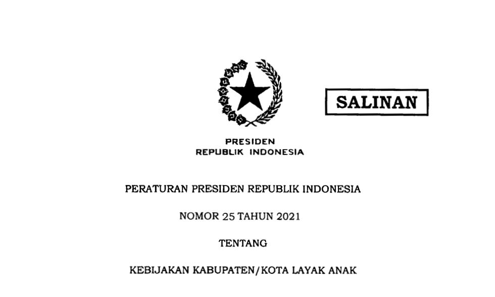 Presiden Jokowi Terbitkan Perpres Kebijakan Kabupaten/Kota Layak Anak
