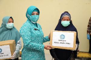 Ketua Umum TP PKK Tekankan Pemakaian Masker sebagai Upaya Akhiri Pandemi