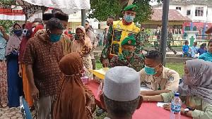 TNI dan Polri, Buka Pengobatan Gratis di Aceh Utara