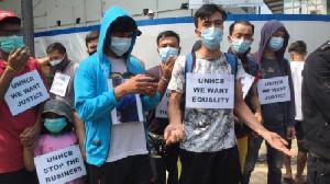 Pengungsi Asing Demo Mau Temui Jokowi