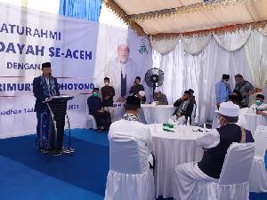 AHY Pimpin Doa untuk Korban KRI Nanggala-402di Hadapan Ulama Aceh