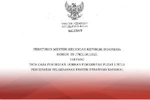 Menkeu Terbitkan Aturan untuk Jamin Pelaksanaan Proyek Strategis Nasional