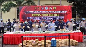 Polda Aceh Ungkap Kasus Sabu 50 Kg dan Ganja 194 Kg