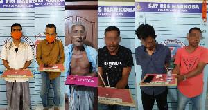 Polisi Aceh Utara Ungkap 6 Kasus Narkoba, Tersangkanya Dari Pemuda Hingga Kakek-Kakek