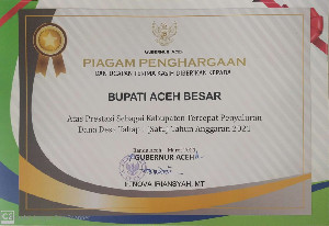 Aceh Besar , Kabupaten Tercepat Penyaluran Dana Desa Tahap I Tahun  2021