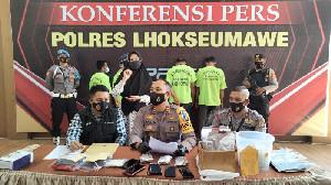 Polres Lhokseumawe Ungkap Penyeludupan Ganja ke Jakarta