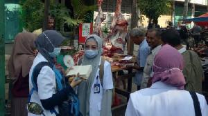 Pemko Banda Aceh Gandeng 32 Mahasiswa FKH USK Pantau Daging Meugang