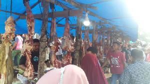 Harga Daging Meugang di Aceh Tamiang Bervariasi