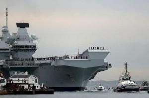 Hadapi Rusia, Ukraina Dibela Inggris 2 Kapal Induk Dikerahkan