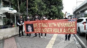 Aksi Solidaritas Myanmar Dibubarkan Aparat, 3 Aktivis Almisbat ditangkap