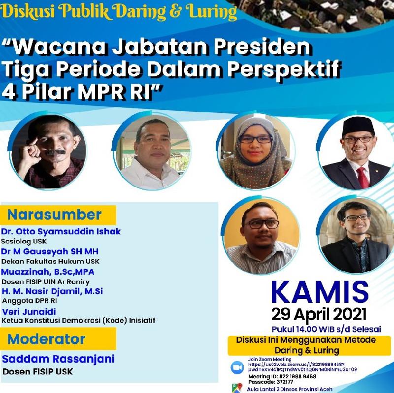 JSI Gelar Diskusi Virtual terkait Wacana Jabatan Presiden 3 Periode