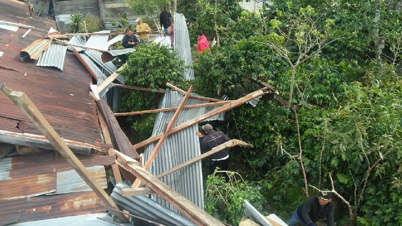 Tiga Rumah Warga Rusak Akibat Angin Puting Beliung di Bener Meriah