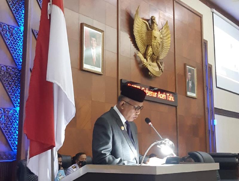 Gubernur Aceh: Pendapatan Lebihi Target dalam Paripurna DPRA LKPJ 2020