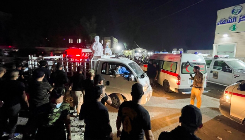 82 Orang Tewas di Kebakaran RS di Baghdad
