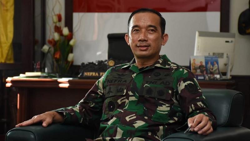 Brigjen TNI Nefra Firdaus Mohon Pamit Dari Kadispenad